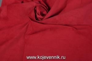 Кожа натуральная - Замш красный