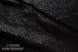 Кожа натуральная - Паутина черная