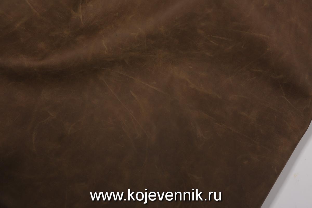 Кожа натуральная - Крейзи хорс олива 1,2-1,4
