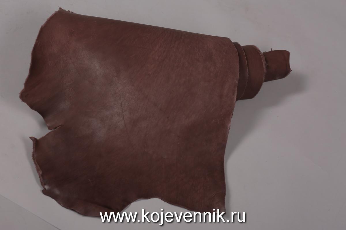 Кожа натуральная - Пола барабаного крашения коньяк